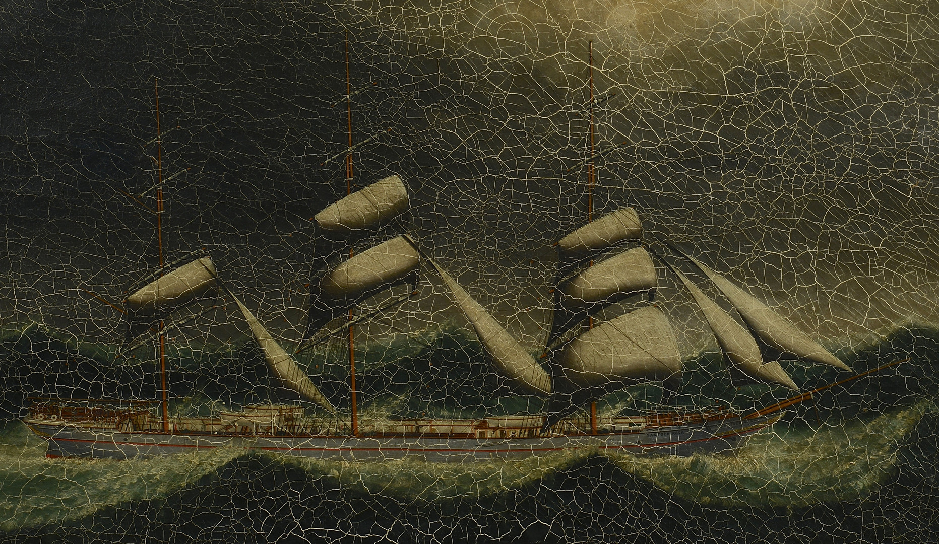 "Lot 420: Anglo-Chinese School Ship Oil, ""Gantock Rock"""