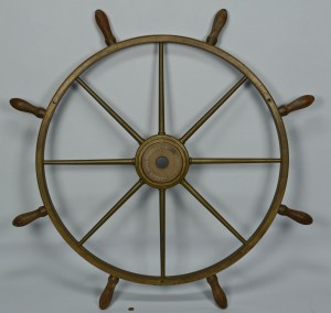 Lot 421: Brass Ship Wheel, USS Yosemite