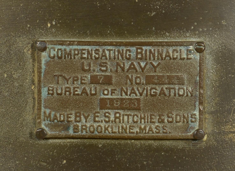 Lot 422: Compensating Navy Ship Binnacle