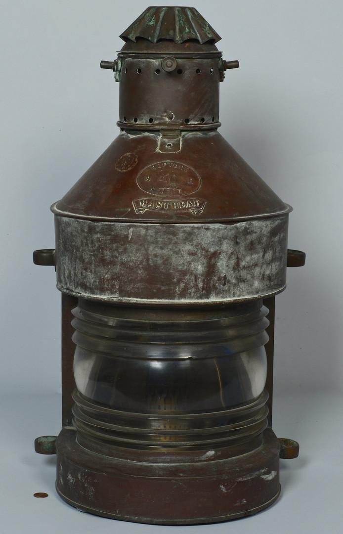 Lot 424 4 Ship Lanterns Amp Navy Bucket