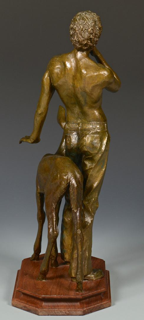 Lot 428: Charles Parks Bronze, Man with Deer