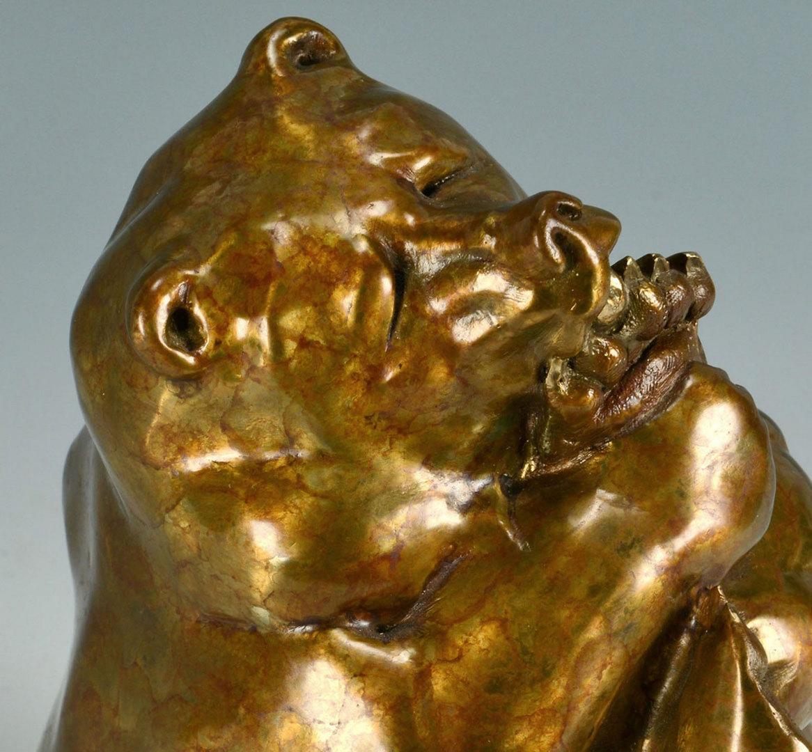 Lot 429: Walt Horton Bronze Bear Sculpture