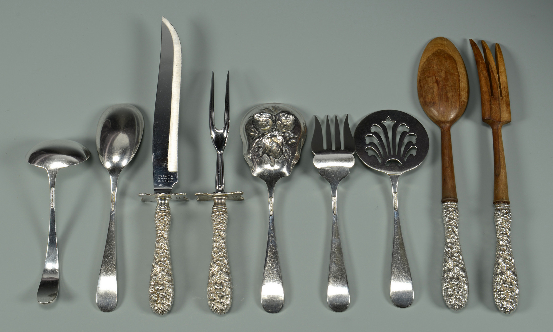 Lot 42: Steiff Rose Sterling Flatware, 72 pcs.