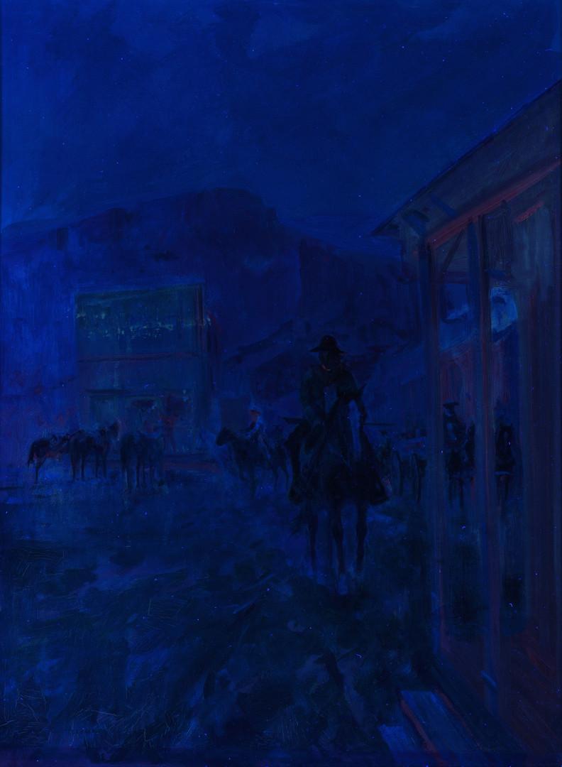 Lot 430: Carl Hantman o/b, Illustration of Cowboy