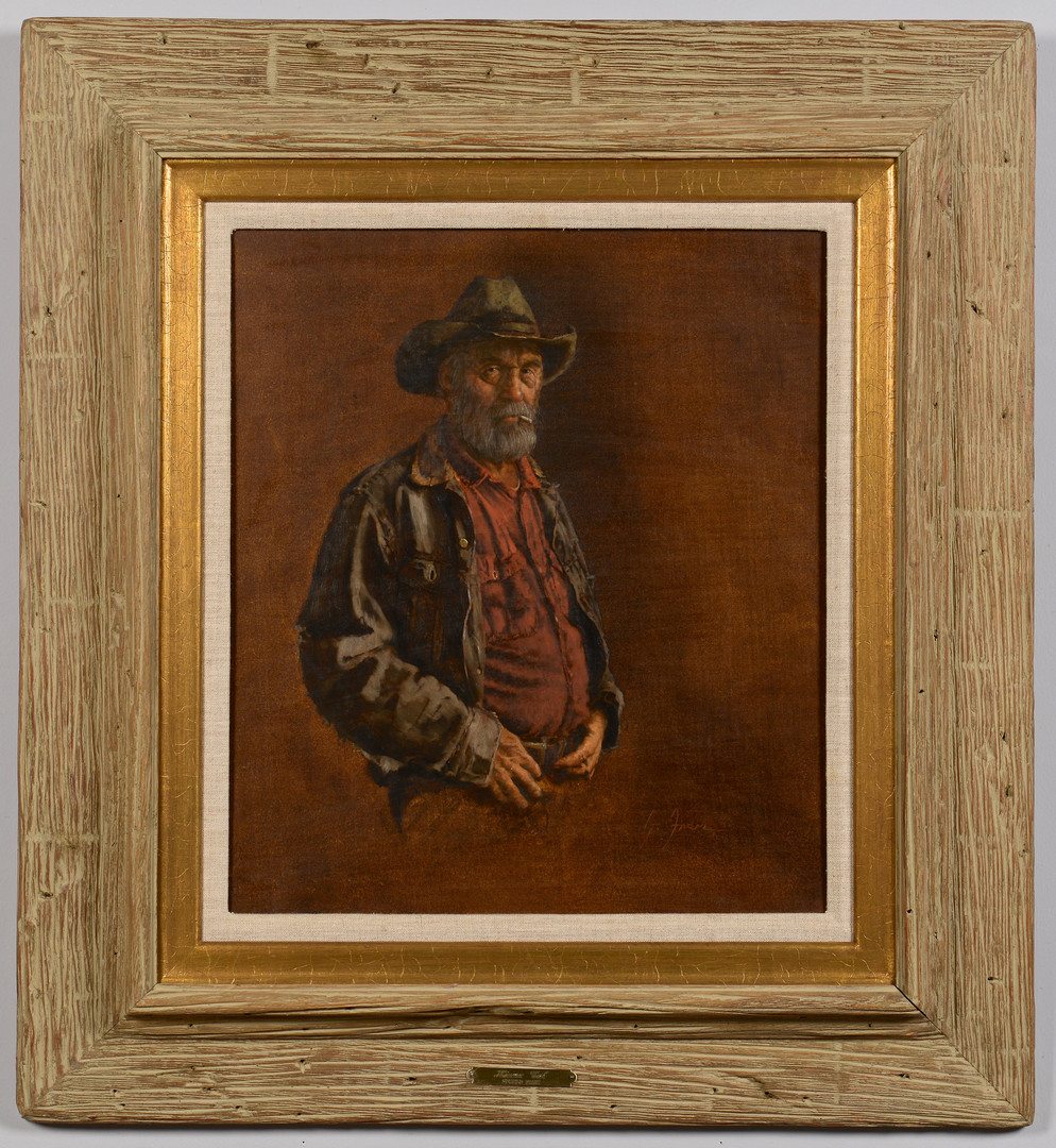Lot 432: Gerald Farm oil on board, Kiowa Cal