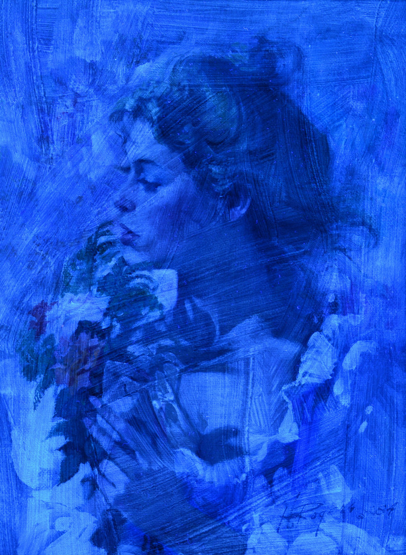 Howard Rogers oil, Rose Glow