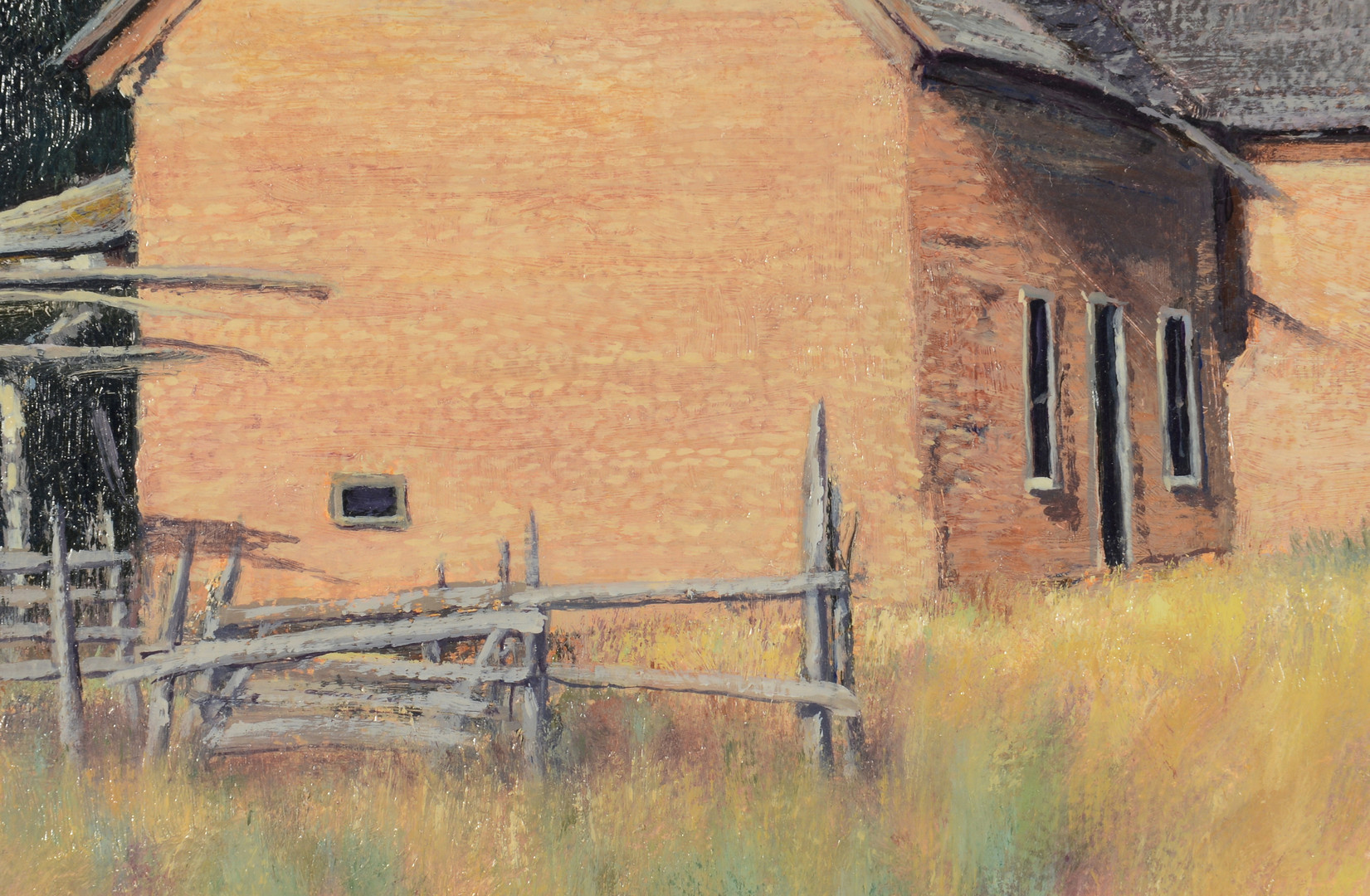 Lot 436: Travis Humphreys Landscape with cabin