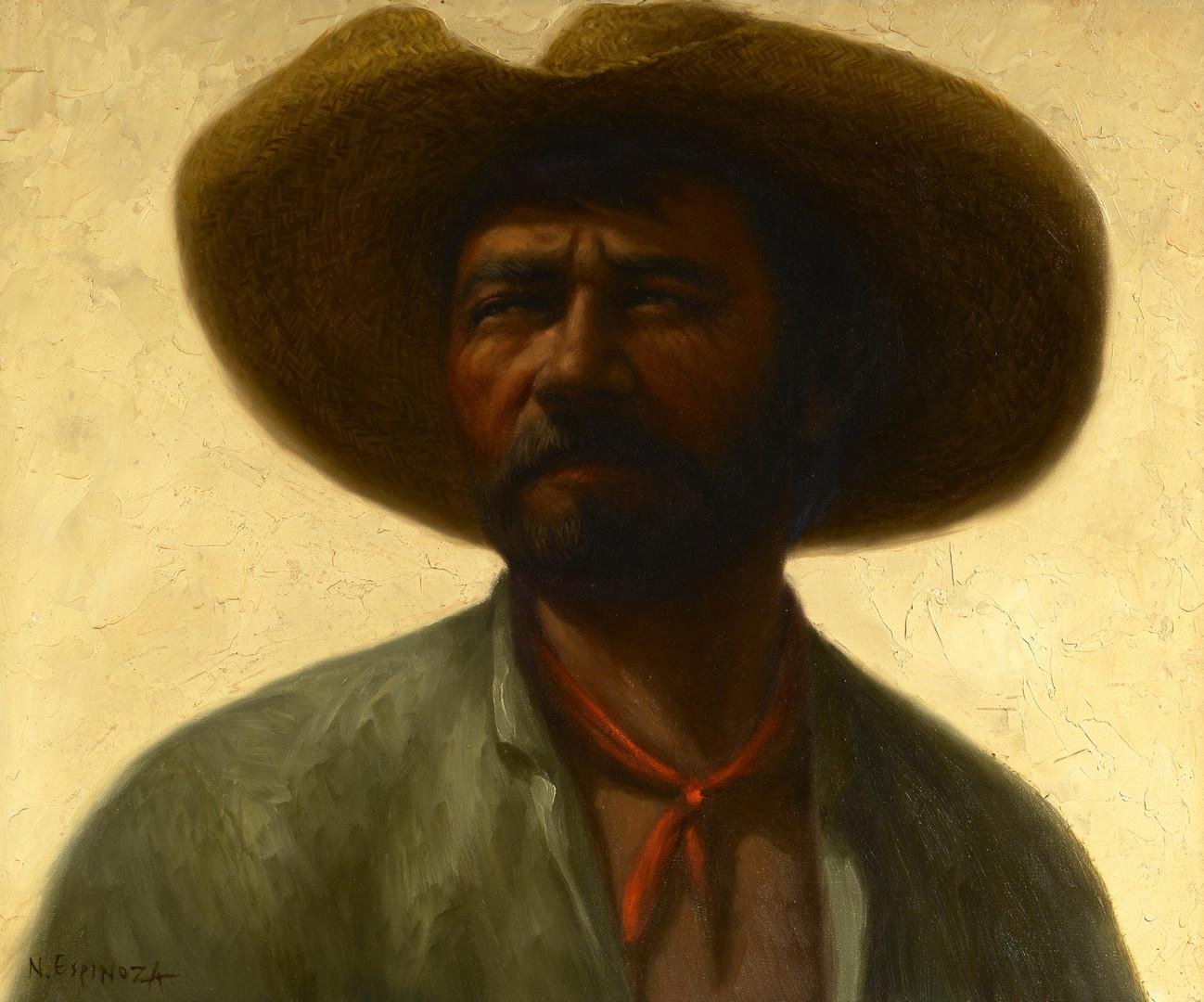 Lot 438: Noel Espinoza Oil on Canvas Portrait