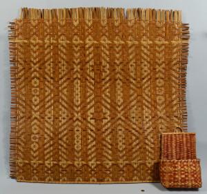 Lot 441: Cherokee Wall Basket & Mat