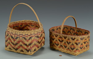 Lot 442: 2 Cherokee Rivercane Baskets
