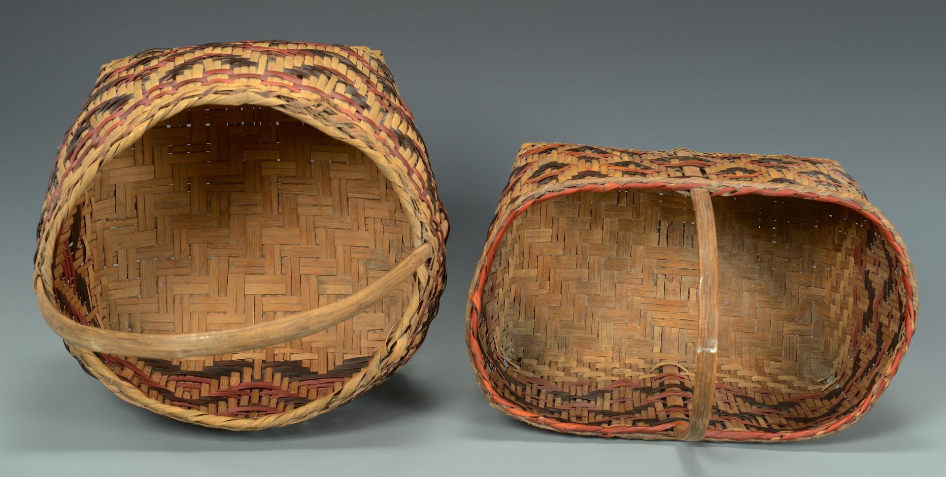 Lot 442: 2 Cherokee Rivercane Baskets