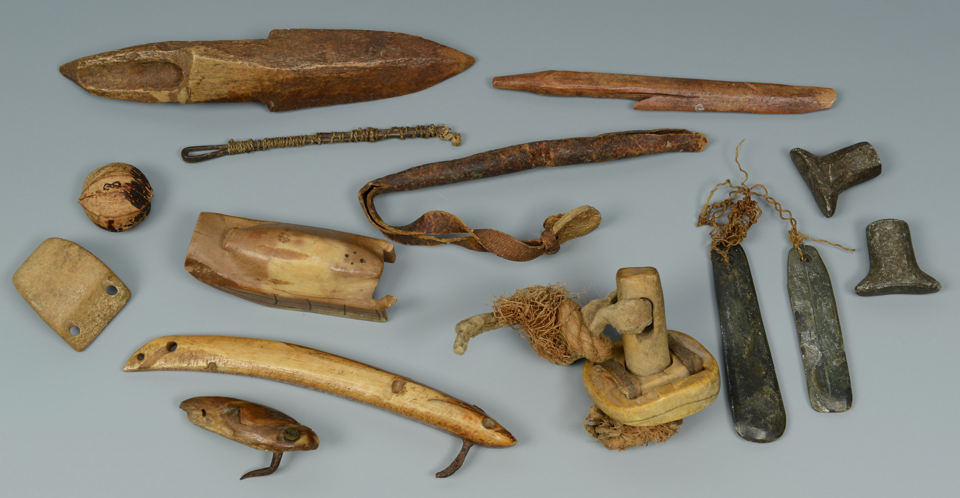 Lot 445: Large collection Inuit Bone & other carvings