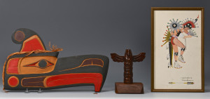 Lot 446: 3 Native American Art Items