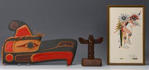 Lot 446: 3 Native American Art Items