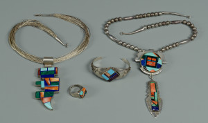 Lot 452: 4 Native American Jewelry Items