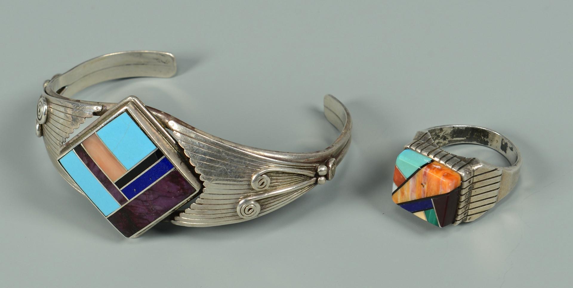 Lot 452: 4 Native American Jewelry Items