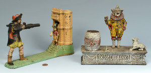 Lot 458: 2 English Mechanical Banks