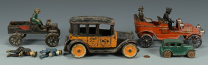 Lot 459: Vintage Cast Iron Car Toys