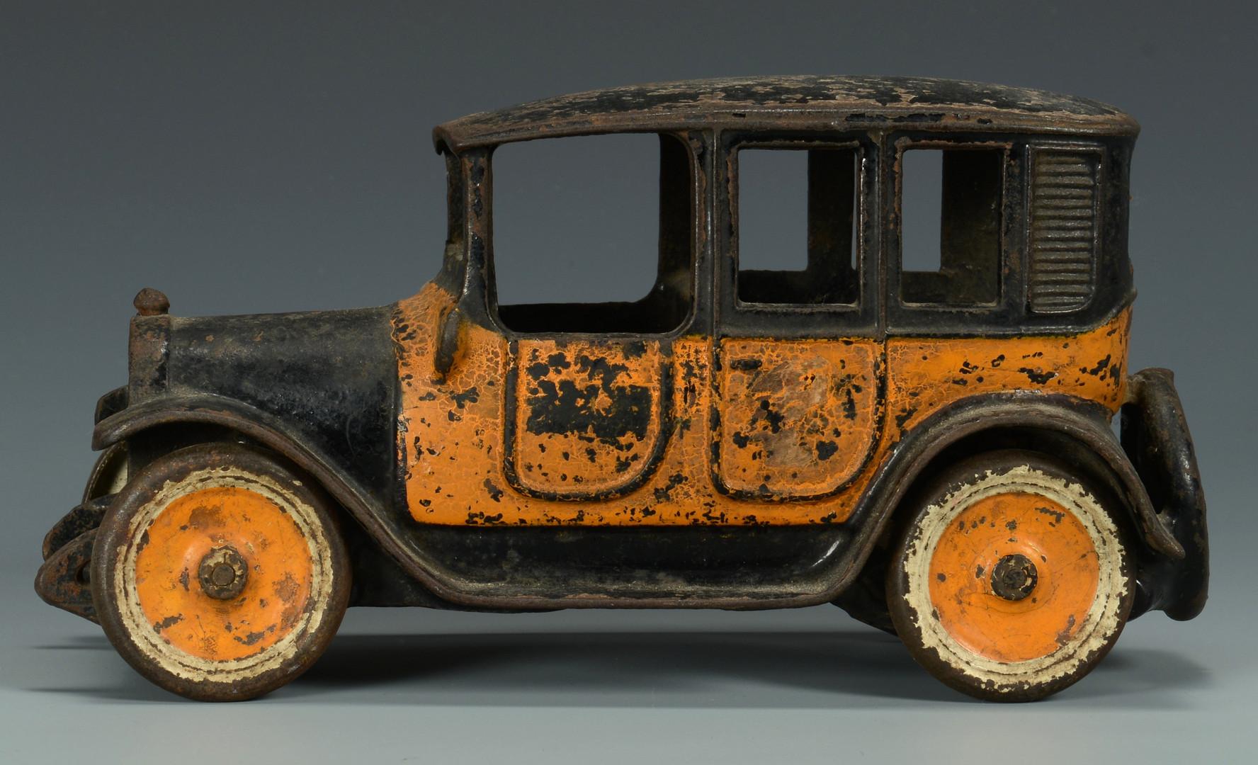 Lot 459: Vintage Cast Iron Car Toys