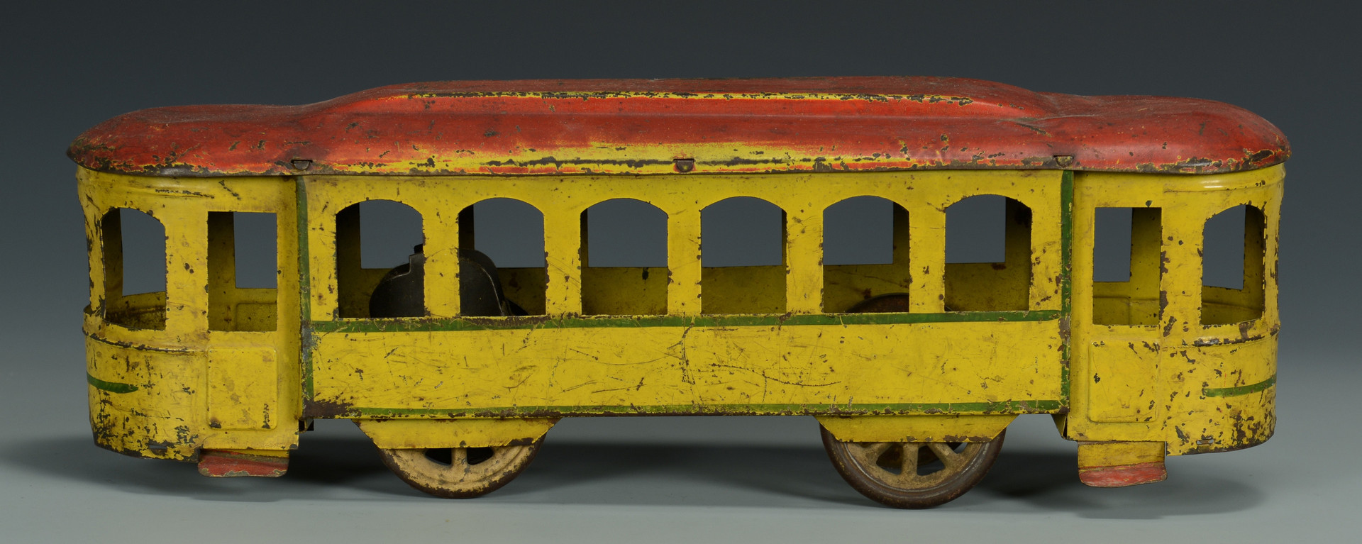 Lot 465: 2 Hill Climber Trains, Trolley & Wagon Cars (5 Ite