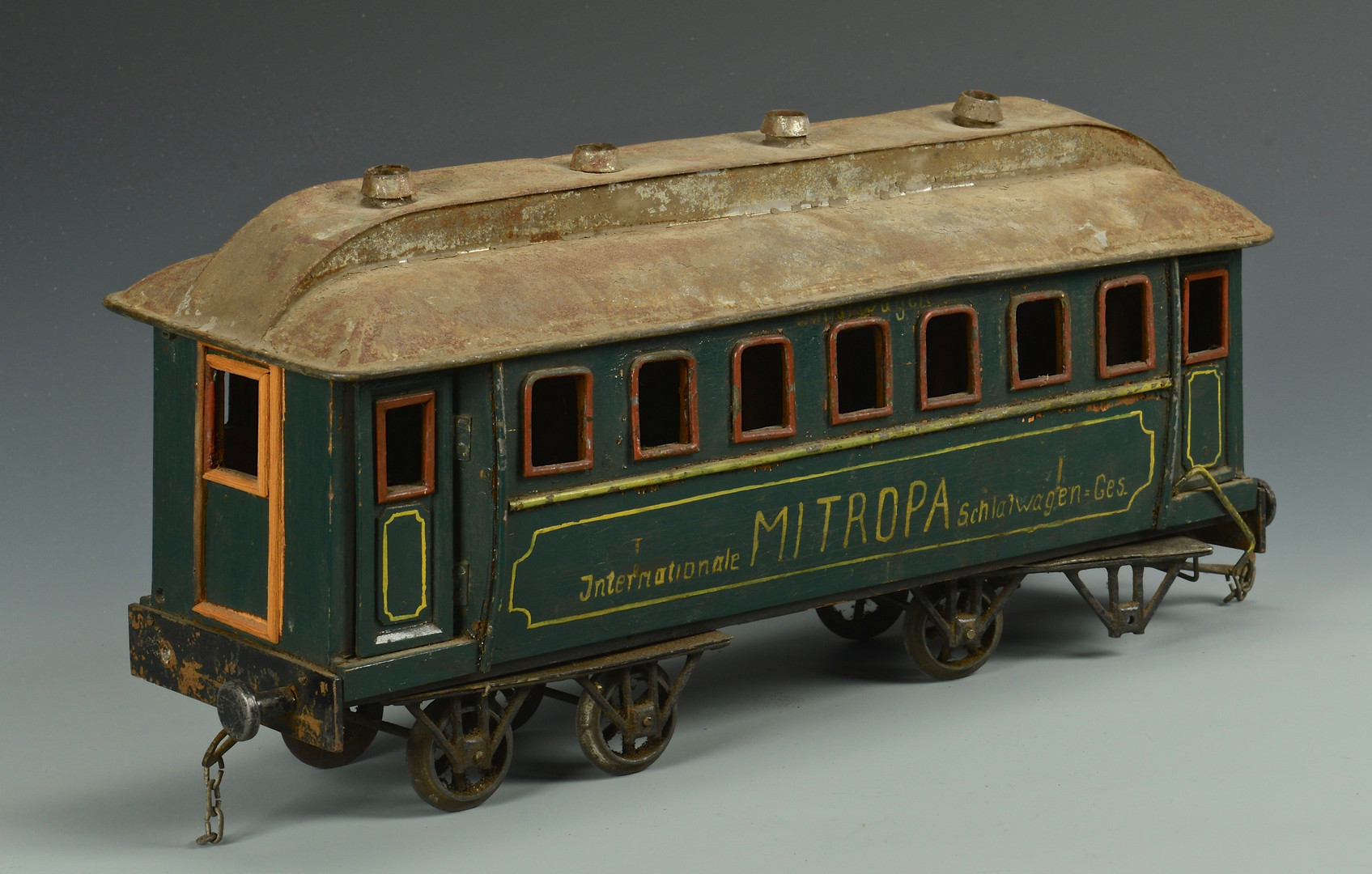 Lot 473 5 Large Floor Scale Wooden Train Cars Mitropa