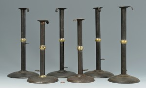 Lot 475: 3 Prs. Wedding Band Candlesticks