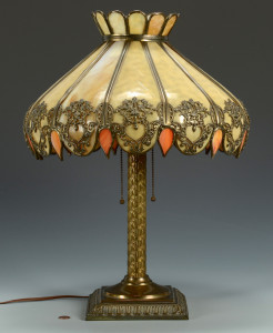 Lot 478: American Slag Glass Lamp