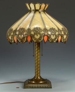 Lot 478: American Slag Glass Lamp