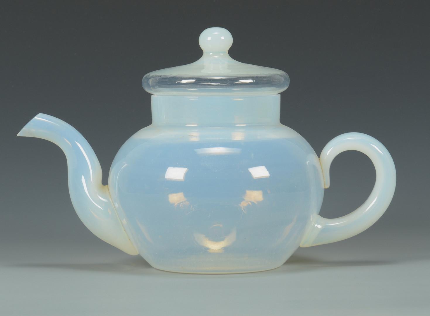 lot 479 fry foval opaline glass tea set. Black Bedroom Furniture Sets. Home Design Ideas