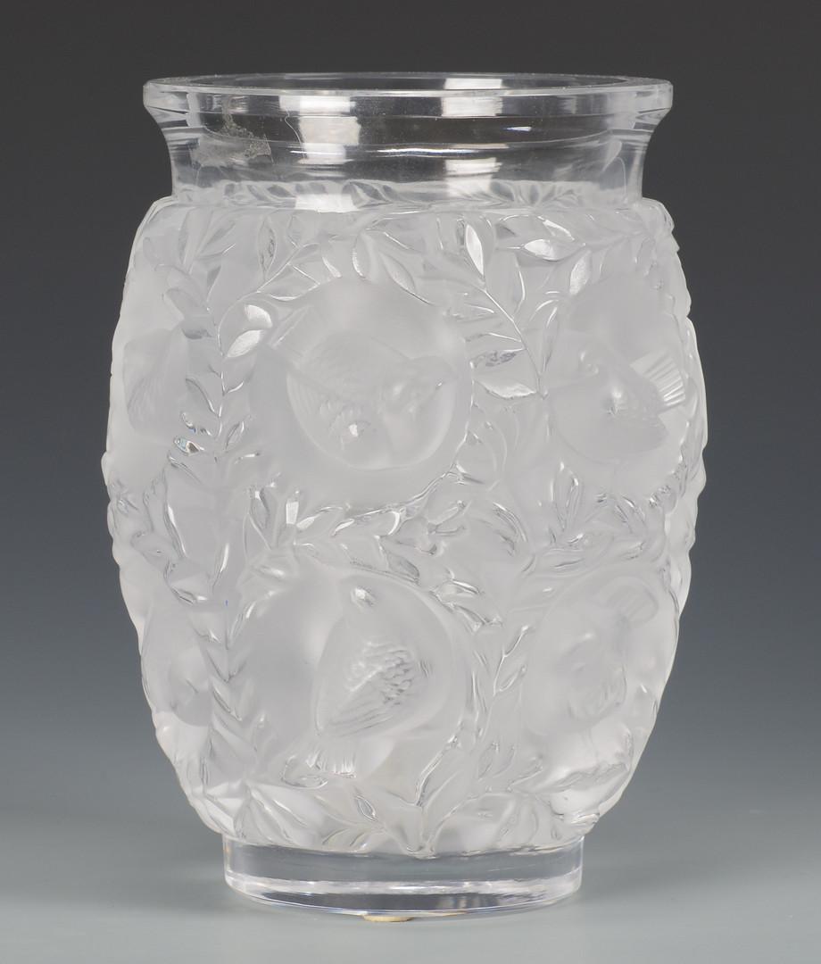 lot 480  lalique glass vase  u0026 ornaments