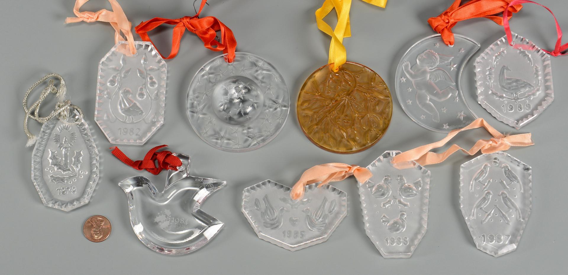 Lot 480: Lalique Glass Vase & Ornaments