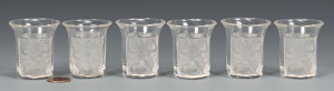 Lot 481: 6 Lalique Shot Glasses