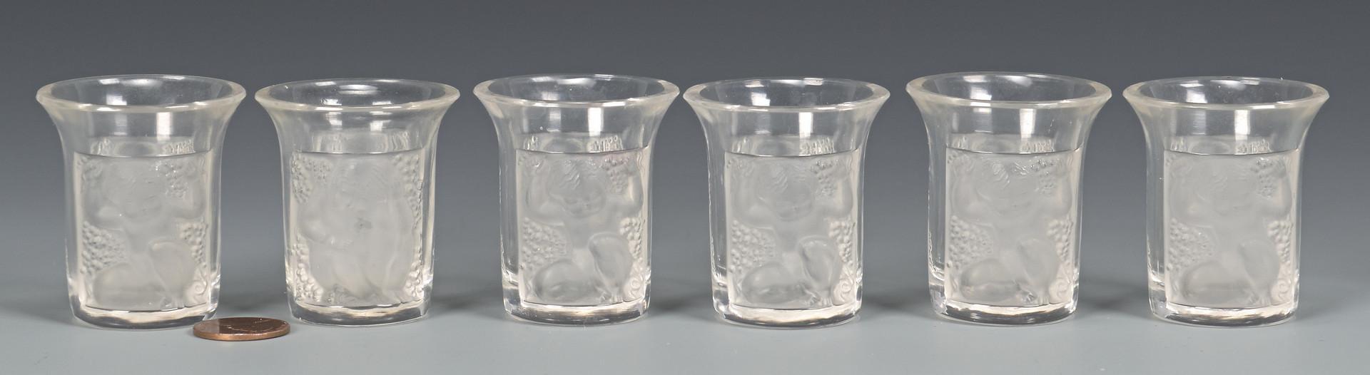 Lot 481: 6 Lalique Shot Glasses