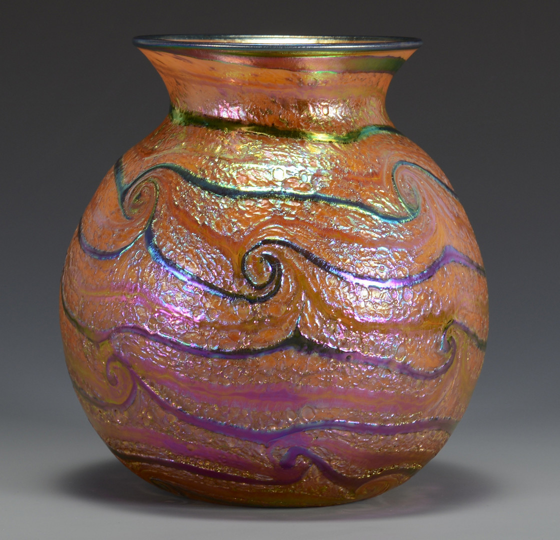 Lot 482: Charles Lotton Art Glass Vase