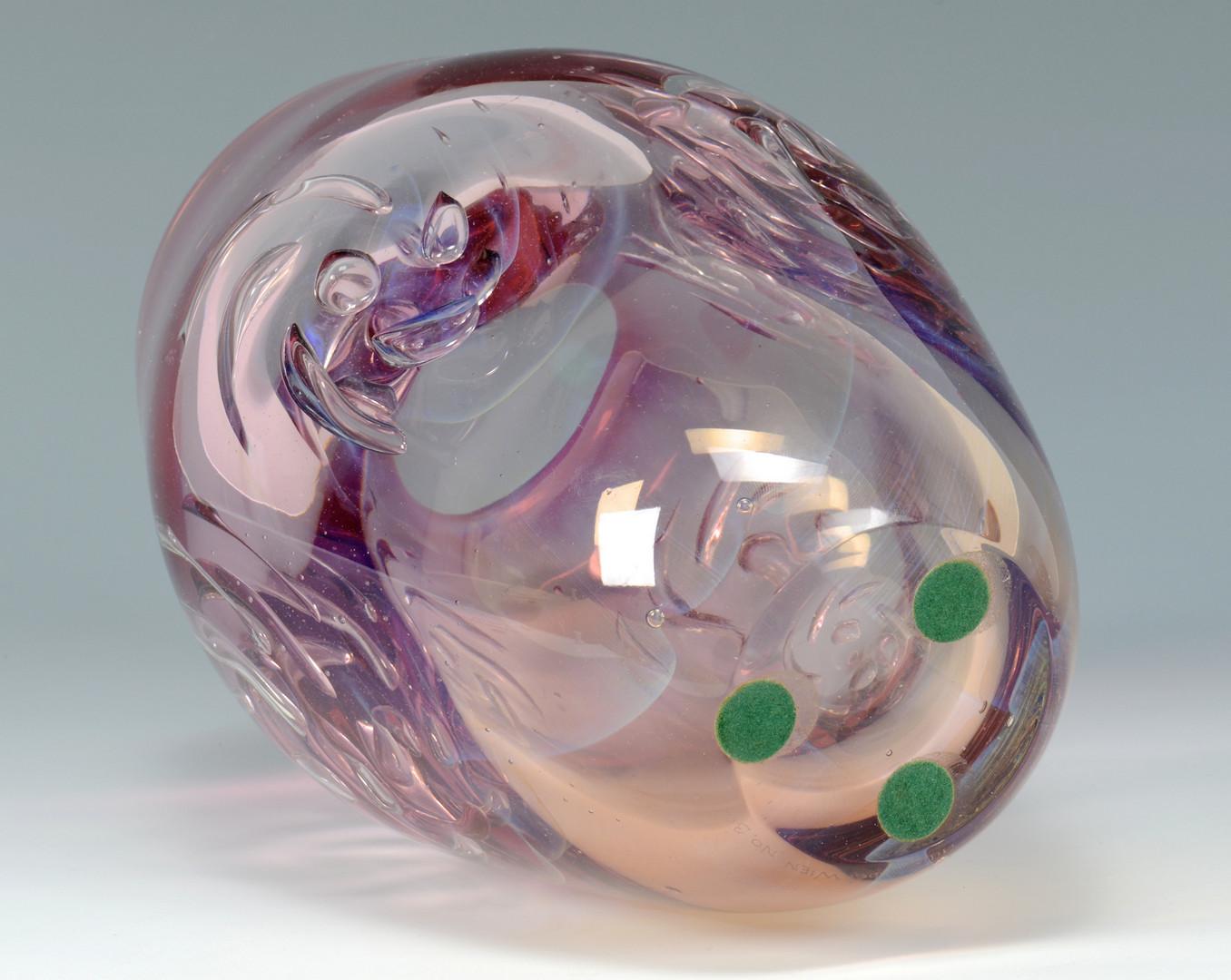 Lot 483: David Huchthausen Art Glass bowl & vase