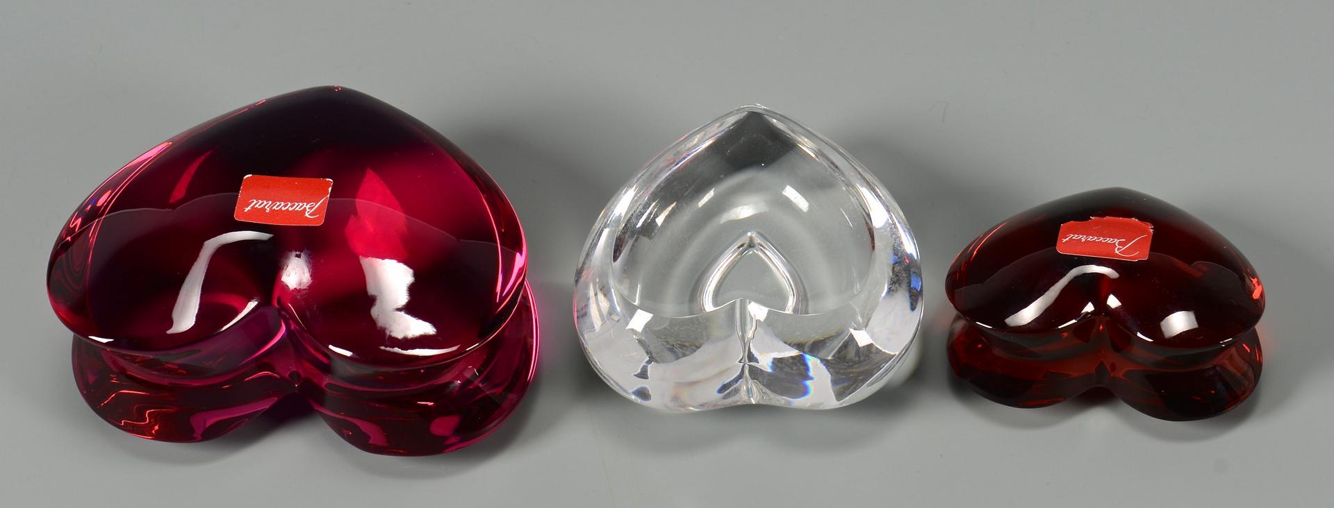 Lot 484: 3 pcs Mid-Century Art Glass + 5 small paperweights