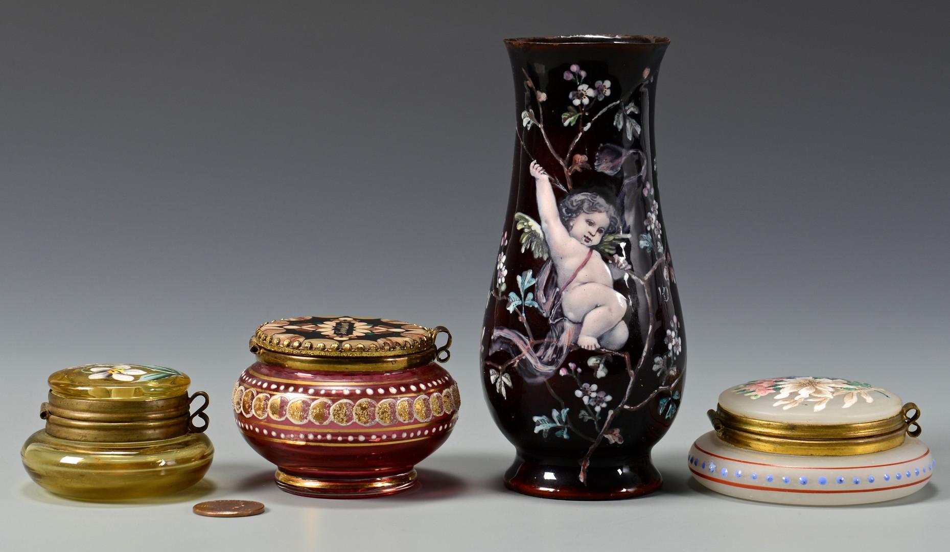 Lot 485: 4 Pieces Art Glass, inc. tortoise
