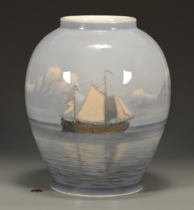 Lot 489: Royal Copenhagen Porcelain Vase