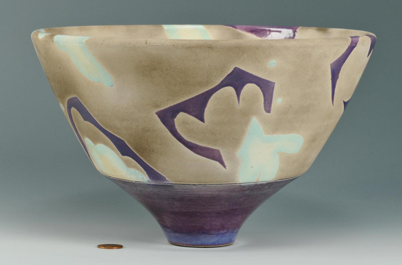 Lot 494: 2 Michael Sherrill NC Pottery Items