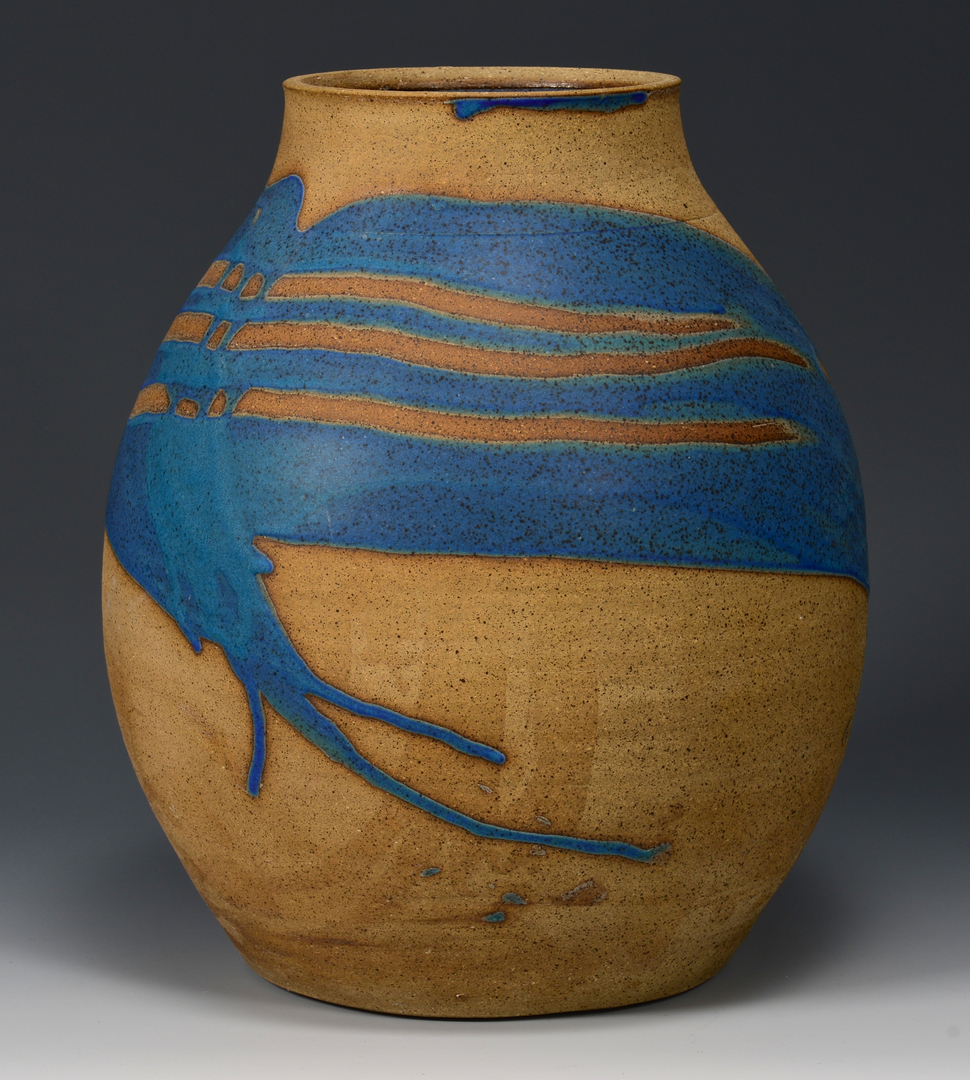 Lot 495: Charles Counts Art Pottery Jar