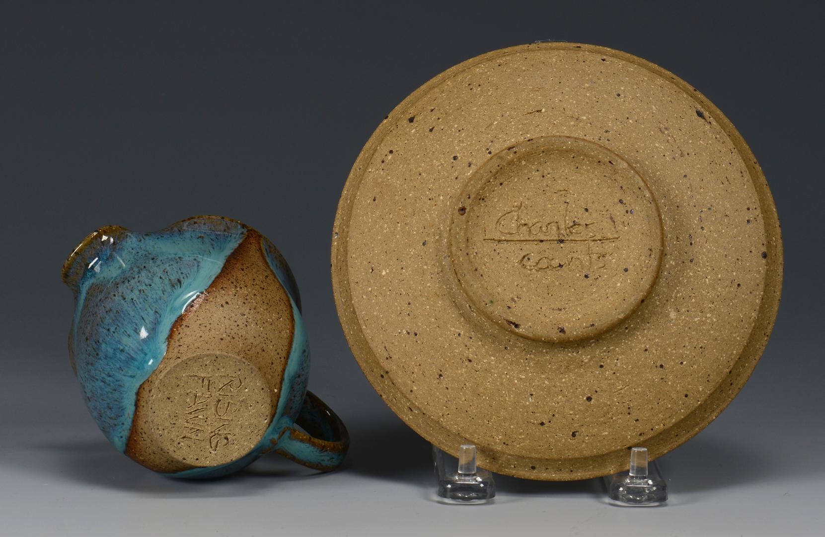 Lot 496: 4 Pcs. Charles Counts Art Pottery