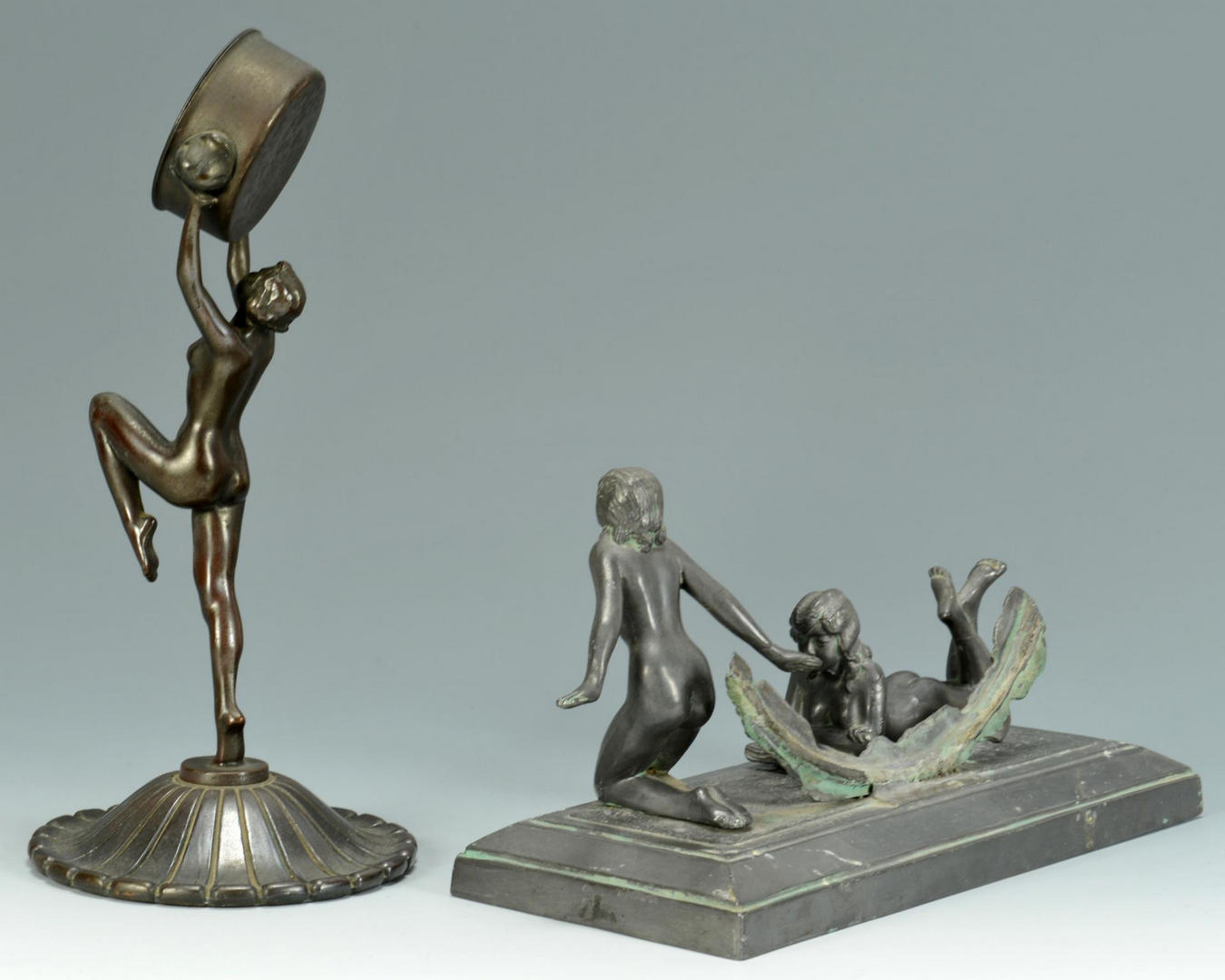 Lot 497: 4 Art Deco Nude Sculptures
