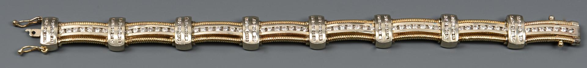 """Lot 49: 14k Diamond Link Bracelet, 8"""" L"""
