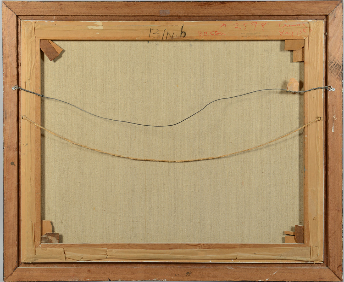 Lot 502: A. Binder oil on canvas