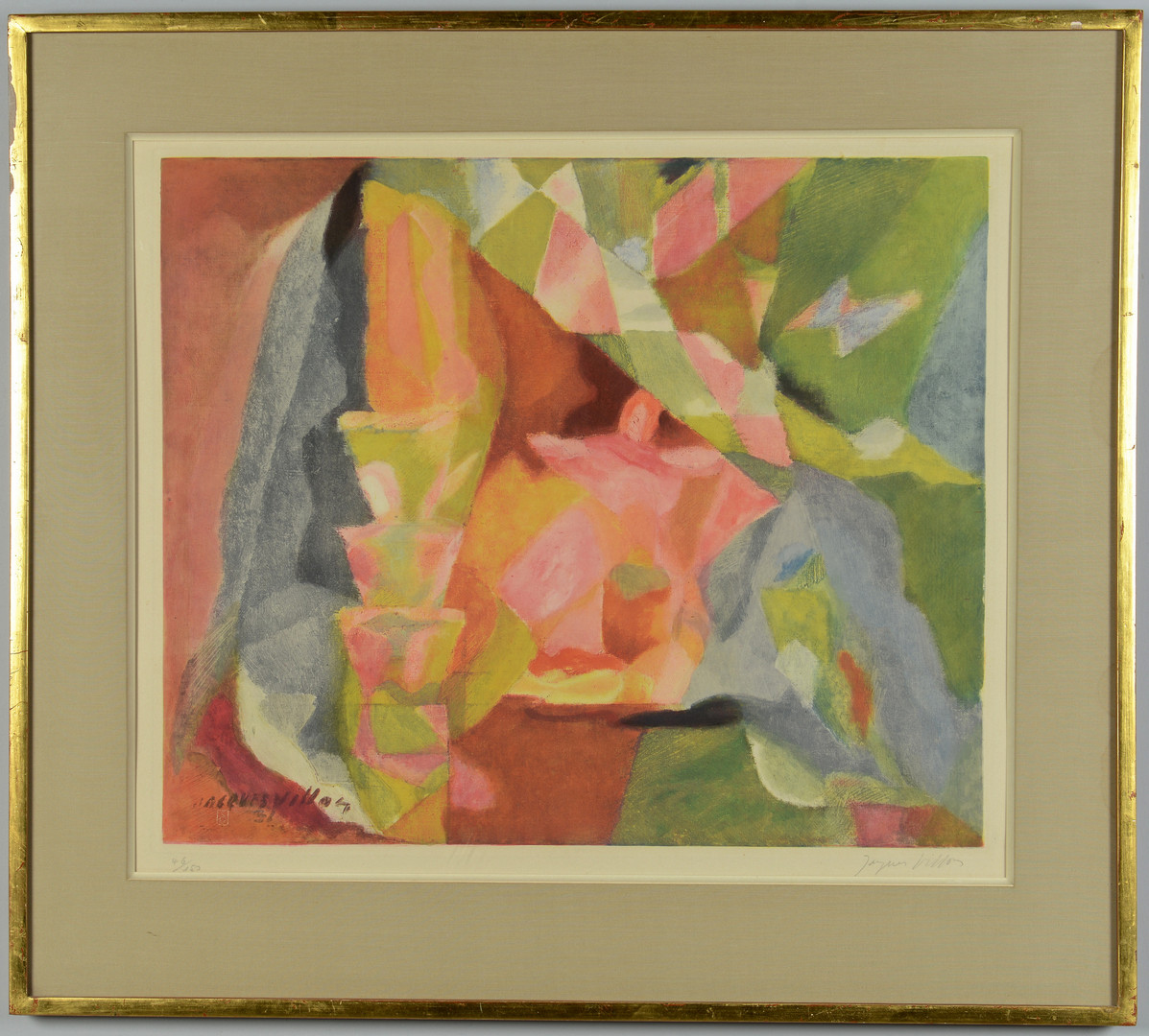 Lot 503: Jacques Villon signed aquatint
