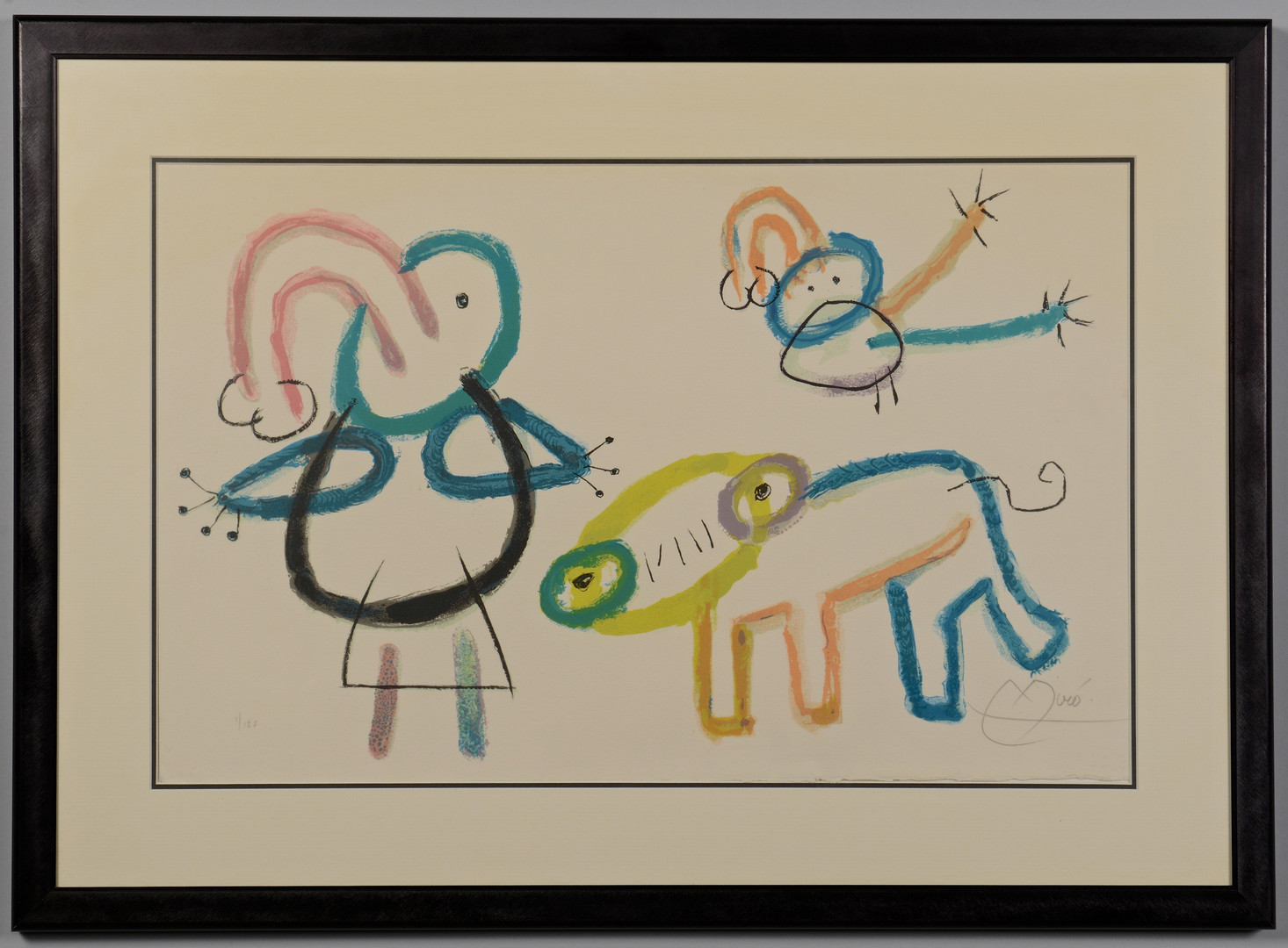Lot 505: Joan Miro lithograph, L'Enfance D'Ubu