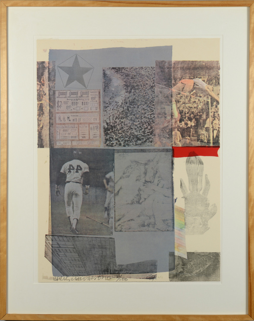 "Lot 506: R. Rauschenberg ""Back-Out"" Mixed Media Serigraph"