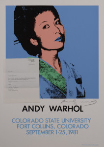 Lot 507: Andy Warhol Screenprint, Kimiko Powers