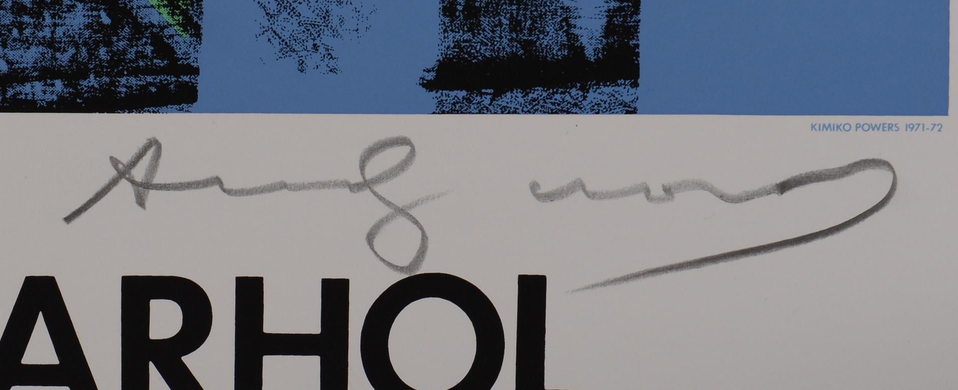 Lot 507: Andy Warhol Screenprint, Kimiko Powers