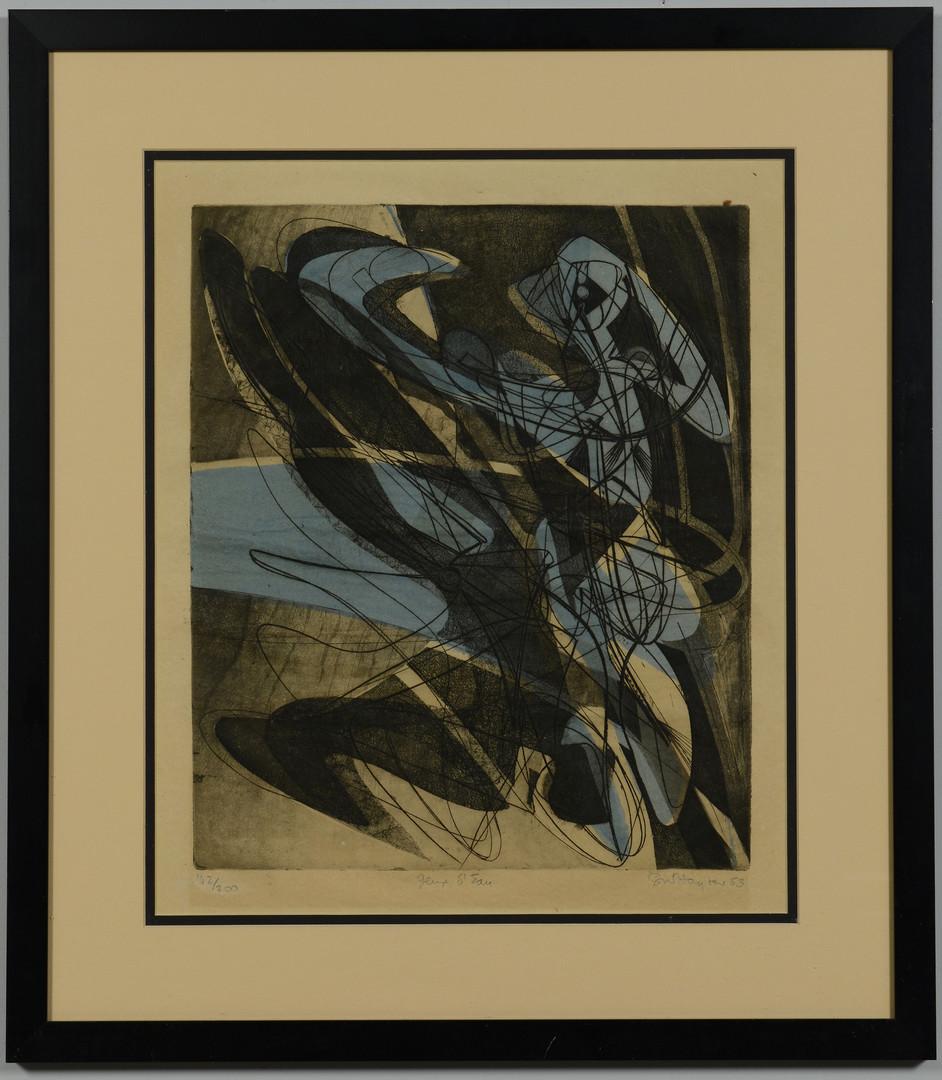 """Lot 509: S.W. Hayter Engraving, """"Jeux d'eau"""""""